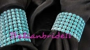 Teal/Blue 150-teal Napkin Rings Reception Decoration