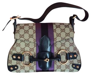 Gucci Satchel in Brown Purple