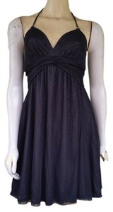 Express Sparkly Halter Babydoll Mini Party Dress
