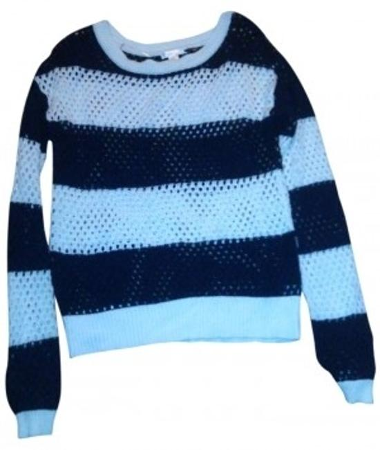 Preload https://item5.tradesy.com/images/xhilaration-blue-white-sweaterpullover-size-6-s-156979-0-0.jpg?width=400&height=650