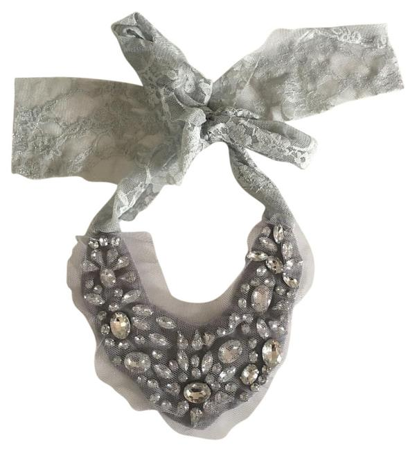 Item - Silver Grey Lace Tie-on Necklace