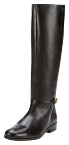 Renvy Reya Leather Chain Zip Black Boots