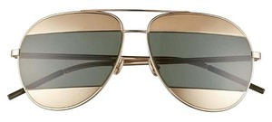 Dior Split 59mm Aviator Sunglasses Rose Gold/Grey Green