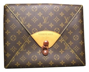 Louis Vuitton Visionaire Portfolio Monogram Brown Clutch