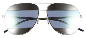 Dior Split 59mm Aviator Sunglasses Palladium/Azure Mirror