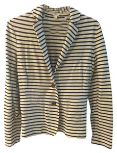 J.Crew white and navy striped Blazer