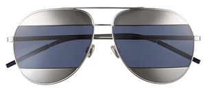 Dior Split 59mm Aviator Sunglasses Palladium/Blue Avio