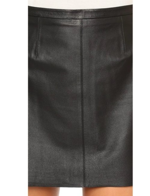 cupcakes and cashmere Leather Mini Mini Skirt BLACK Image 3