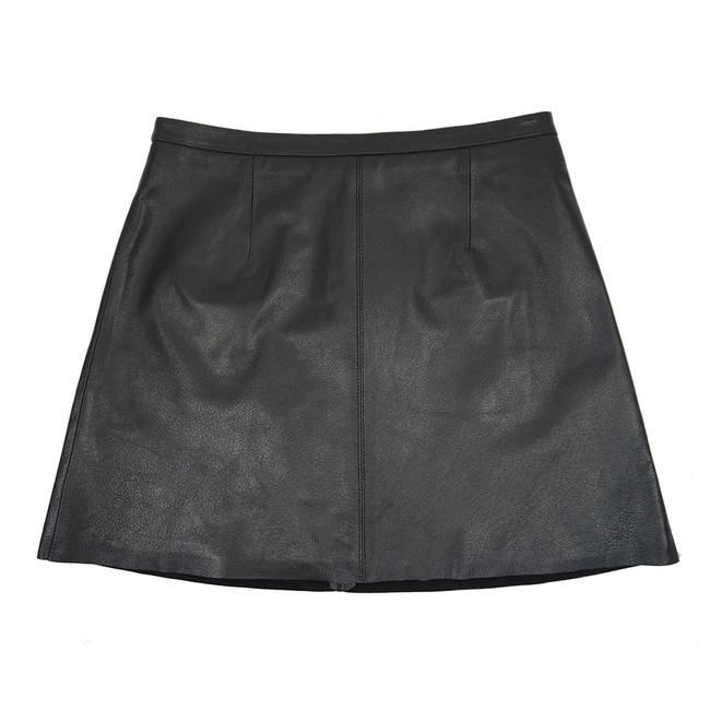 cupcakes and cashmere Leather Mini Mini Skirt BLACK Image 7