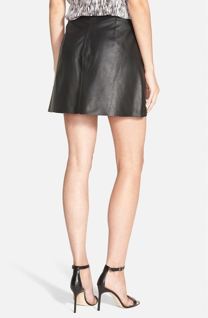 cupcakes and cashmere Leather Mini Mini Skirt BLACK Image 9