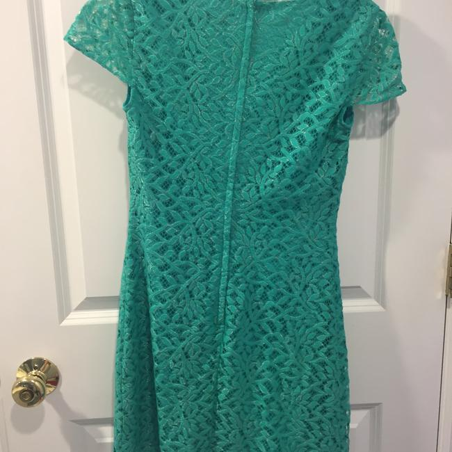 Lilly Pulitzer short dress teal blue, metallic on Tradesy