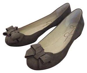 Jessica Simpson Charcoal Microsuede Flats