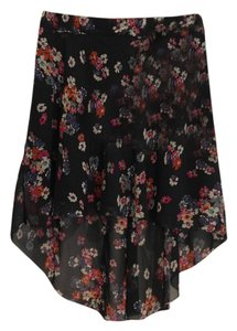 American Eagle Outfitters Floral Hi Lo Mini Skirt multi