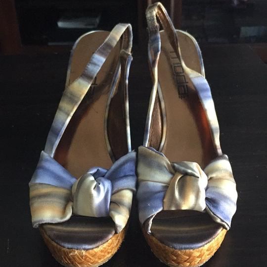 Moda Spana Blue, green, and yellow Wedges