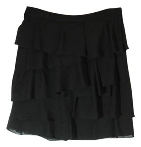 The Limited Tiered Mini Skirt black