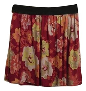 SO Floral Flowy Mini Mini Skirt pink