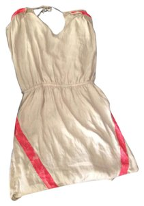 Express short dress cream with pink on Tradesy