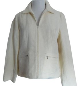 Coldwater Creek Textured Boucle Size 12 New With Tags Ivory Jacket