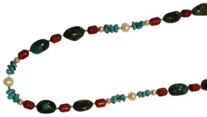 handcrafted funky and sophisticated turquoise necklace