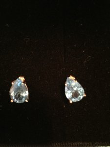 Other Tear Drop Light Blue Earrings