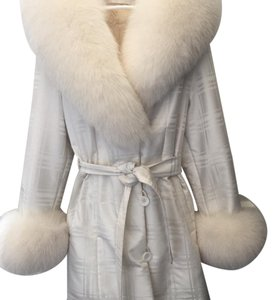 White fox collar, rabbit inner vest coat Fur Coat
