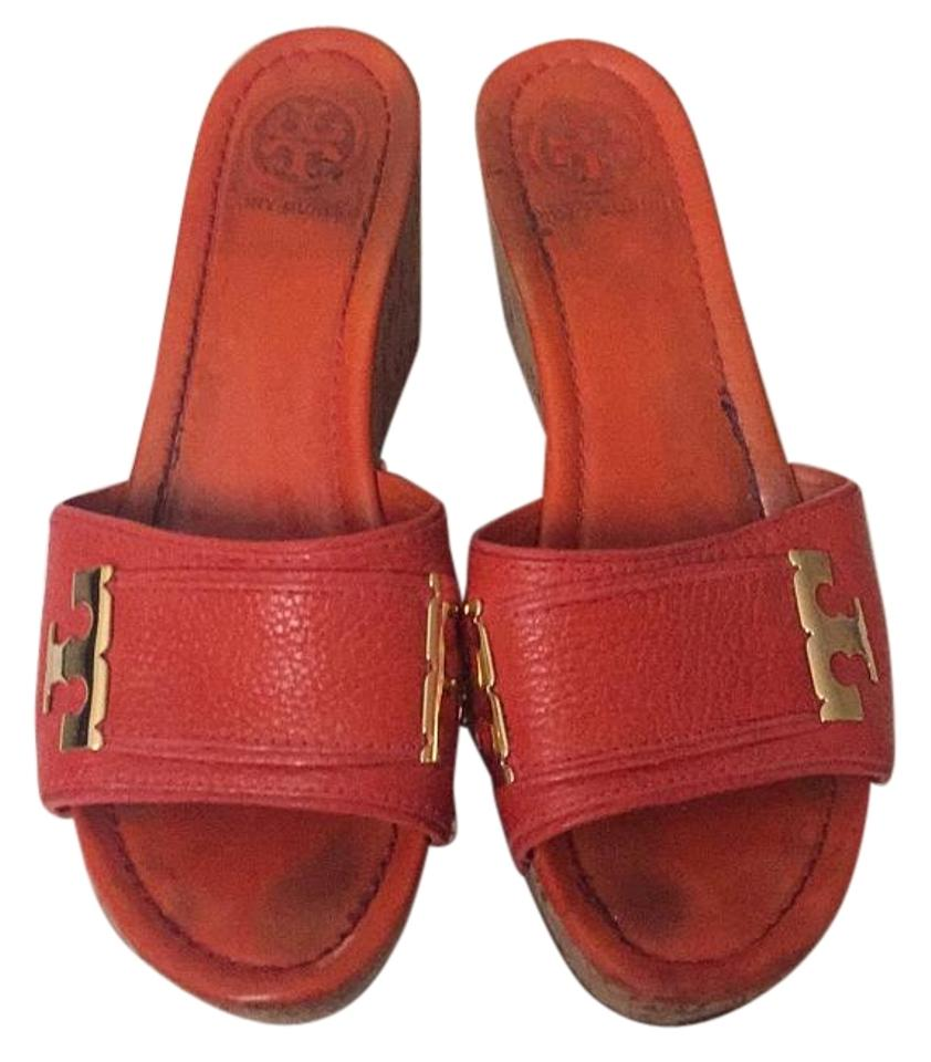 e54bd50fbabb Tory Burch Orange Wedges Size US 8.5 Regular (M