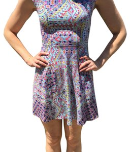 Xhilaration short dress Blue and pink on Tradesy