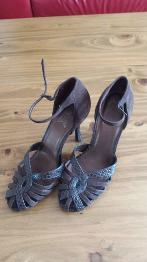 FATHOM Leather Upper brown Pumps