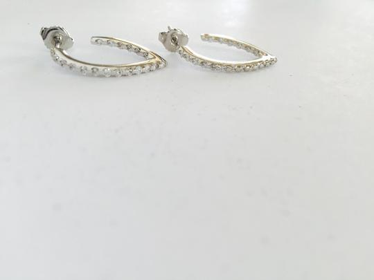 Diamondsy 18k White Gold Diamond (on the Inside too) Earrings