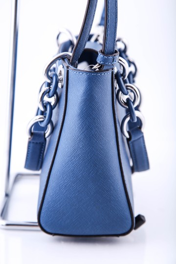 Michael Kors Mini Saffiano Leather Satchel in Blue