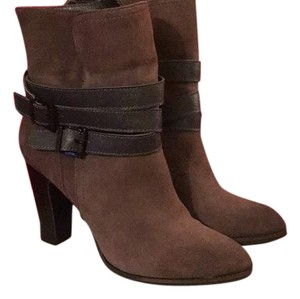 Nicole Straps Fall Leggings Chunky Suede Brown Boots