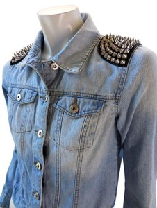 Forever 21 Denim Rocker Trucker Gothic Womens Jean Jacket