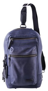 Tumi Blue Leather Sling Backpack