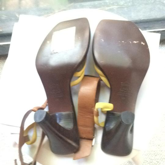 DKNY yellow and brown Sandals