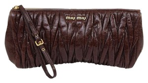 Miu Miu Brown Clutch