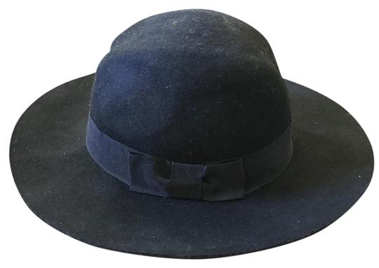 Preload https://item3.tradesy.com/images/black-wool-with-ribbon-bow-hat-15701887-0-3.jpg?width=440&height=440