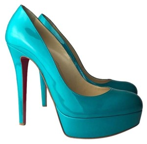 Christian Louboutin 7 7.5 Turquoise BIANCA Pumps