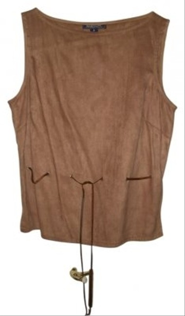 Preload https://item3.tradesy.com/images/tan-vest-sweaterpullover-size-8-m-15702-0-0.jpg?width=400&height=650