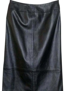 Ralph Lauren Leather Skirt Black