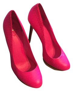 Brian Atwood Pink with gold stiletto Pumps