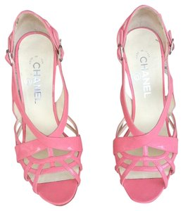 Chanel Sandal Couture Leather pink Formal