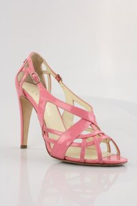 Chanel Sandal Couture Leather Patent Leather Pink Formal