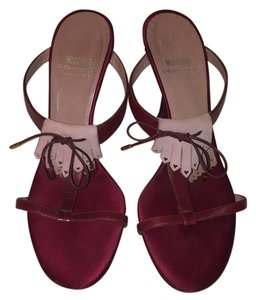 Moschino Purple Maroon & Mauve Pumps