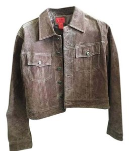 Other Suede Jean brown Leather Jacket