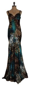 Cache Evening Gown Formal Gown Animal Print Full Length Mermaid Dress