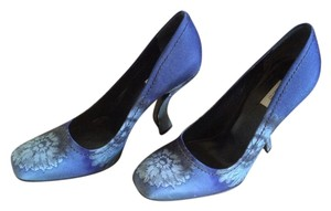 Prada Satin Heels High Heels Calzature Donna Satin Blue Pumps
