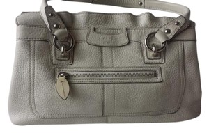 Coach Penelope Pebbled Leather Satchel in Off White