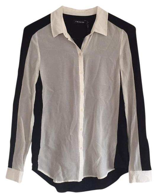 Preload https://item1.tradesy.com/images/trouve-blackwhite-blouse-size-4-s-15702940-0-1.jpg?width=400&height=650