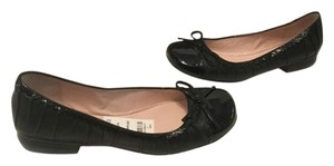 Taryn Rose Patent Capped Toe Black Nappa leather Flats