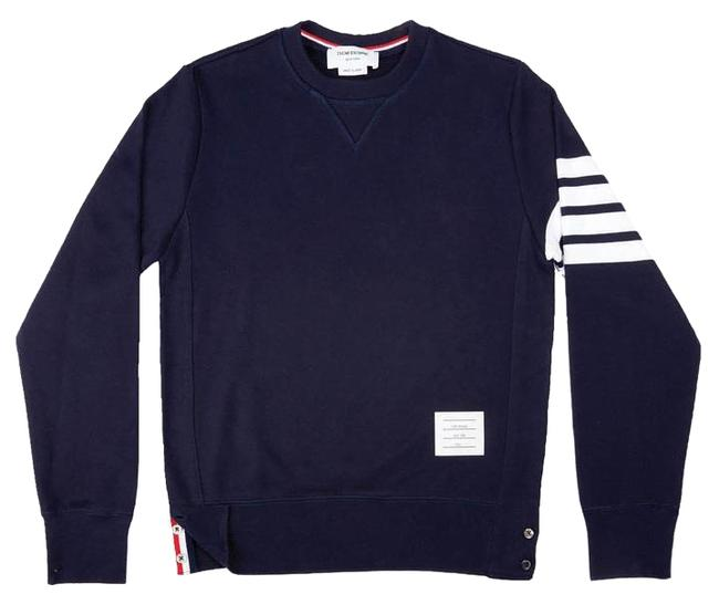 Preload https://item2.tradesy.com/images/thom-browne-navy-classic-pullover-with-engineered-4-bar-university-stripes-sweatshirthoodie-size-6-s-15703306-0-4.jpg?width=400&height=650
